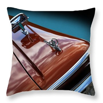 Throw Pillow featuring the photograph A New Slant On An Old Vehicle - 1959 Edsel Corsair by Debi Dalio
