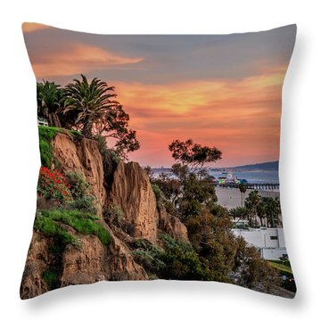 A Nice Evening In The Park Throw Pillow