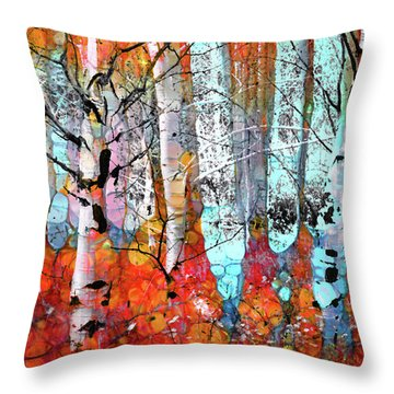 A Party In The Forest Throw Pillow