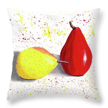 A Pear Of Friends Throw Pillow