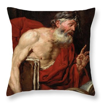 A Philosopher Throw Pillow
