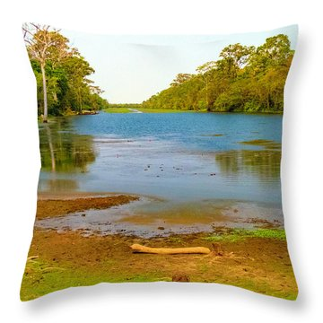 A Pretty Place To Rest In Cambodia Throw Pillow