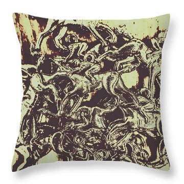 A Punters Mixed Bag Throw Pillow