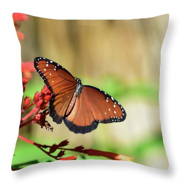 A Queen But Not A Monarch Throw Pillow