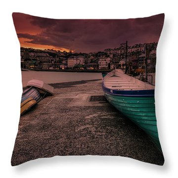 A Quiet Moment - Cornwall Throw Pillow
