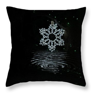 A Ripple Of Christmas Cheer Throw Pillow
