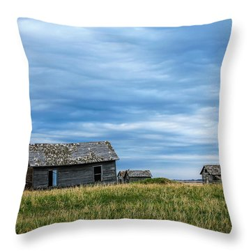 A Sign Of The Times, Run Diown Farm Out Buildings And Barns, Alb Throw Pillow