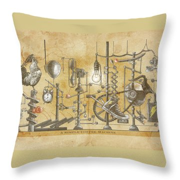 A Simple Coffee Machine Throw Pillow