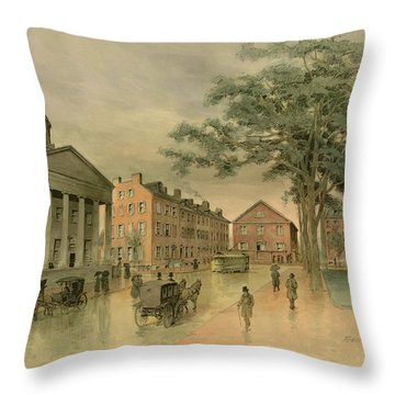 A Southwestern View Of Washington Square Throw Pillow
