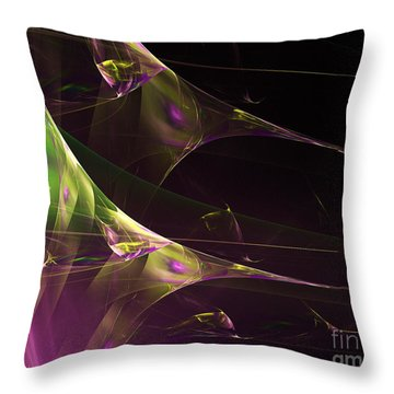 A Space Aurora Throw Pillow