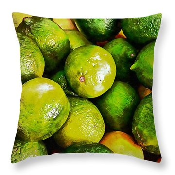A Study In Limes Throw Pillow