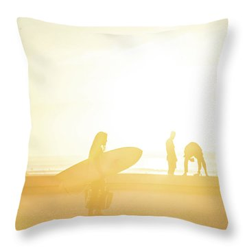 Throw Pillow featuring the photograph A Surf Board by Bruno Rosa