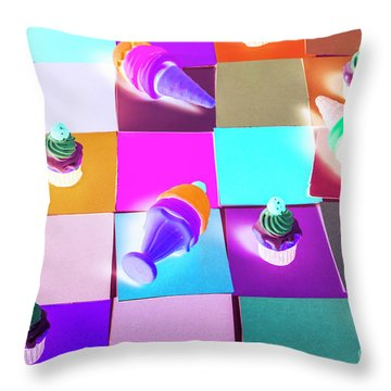 A Sweet Visual Throw Pillow