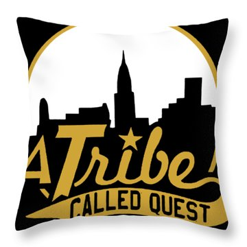 A Tribe Called Quest City Skyline Atcq Hip Hop Rap Native Tongues Hip Hop Throw Pillow