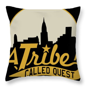 A Tribe Called Quest City Skyline Atcq Hip-hop Rap Native Tongues Hip Racing Throw Pillow