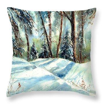 A True Winter Wonderland Throw Pillow