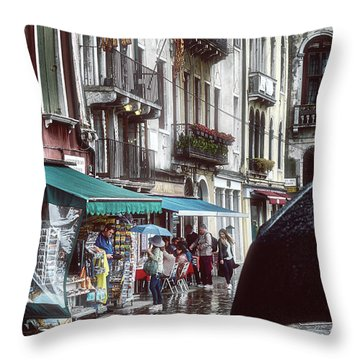 A Typical Venetian Day Throw Pillow