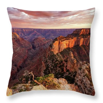 A View From Cape Royal Throw Pillow