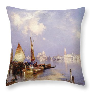 A View Of Venice, 1891 Throw Pillow