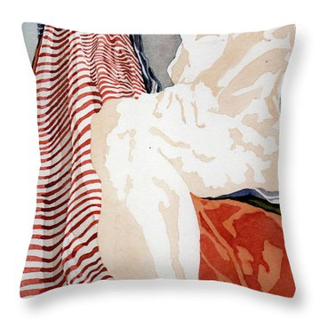 A View Up A Steep Incline Throw Pillow
