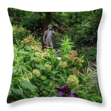 Throw Pillow featuring the photograph A Walk In The Garden by Dale Kincaid