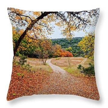 A Walk Through The Maple Forest At Lost Maples State Natural Area - Vanderpool Texas Hill Country Throw Pillow