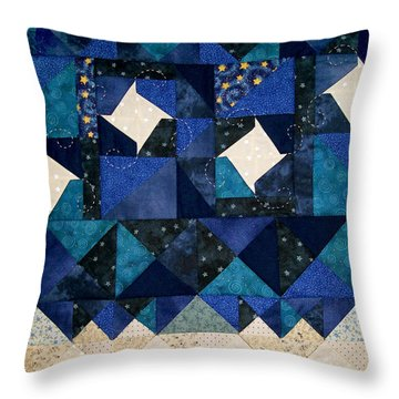 A Winter Snowscape Throw Pillow