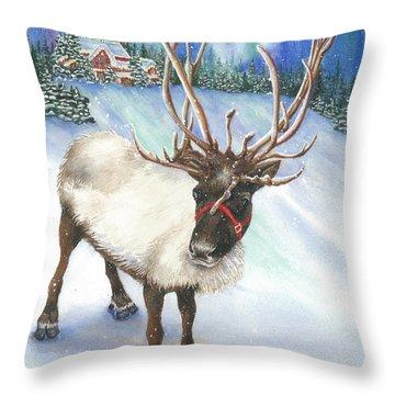A Winter's Walk Throw Pillow