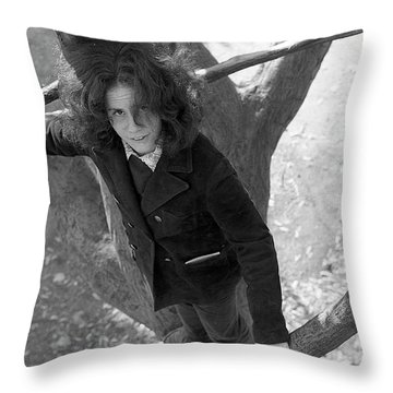A Woman In A Tree, 1972 Throw Pillow