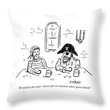 A Word To The Wise Throw Pillow