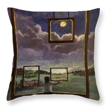 A World Of Visions Throw Pillow