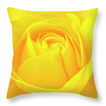 A Yellow Rose For Joy And Happiness Throw Pillow