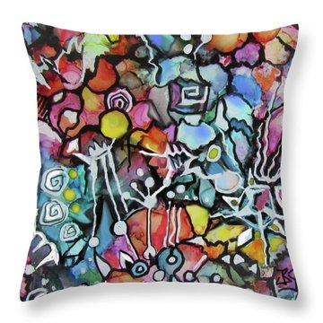A Zentangle Dance Throw Pillow