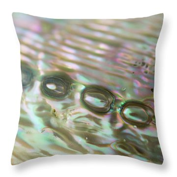 Throw Pillow featuring the photograph Abalone_shell_9892 by Mark Shoolery