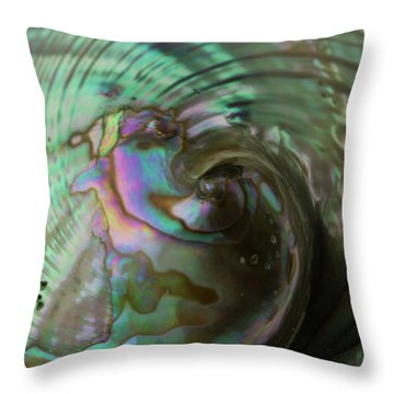 Throw Pillow featuring the photograph Abalone_shell_9903 by Mark Shoolery