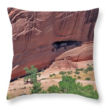 Abandonded Shelter Throw Pillow