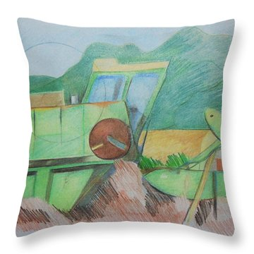 Abandoned Combine Throw Pillow