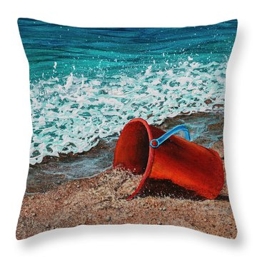 Throw Pillow featuring the painting Abandoned by Darice Machel McGuire