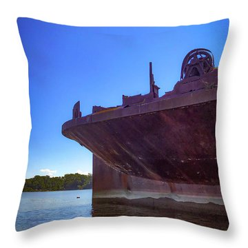 Throw Pillow featuring the photograph Abandoned Ship by Lora J Wilson