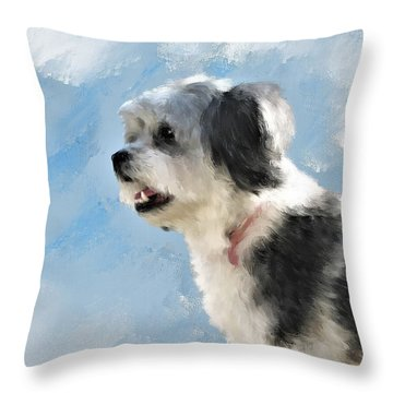 Abby 1 Throw Pillow