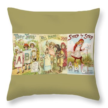 Abc Book Cover 7 For Mugs Throw Pillow