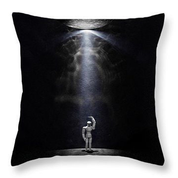 Abduction Throw Pillow