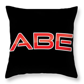 Throw Pillow featuring the digital art Abe by TintoDesigns