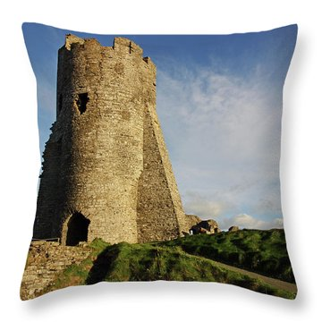 Aberystwyth. The Castle Gatehouse. Throw Pillow