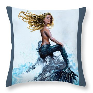 Above A Stormy Sea Throw Pillow