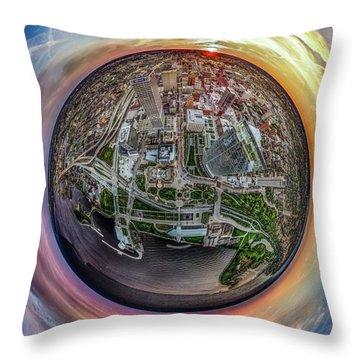 Throw Pillow featuring the photograph Above The Calling Little Planet by Randy Scherkenbach