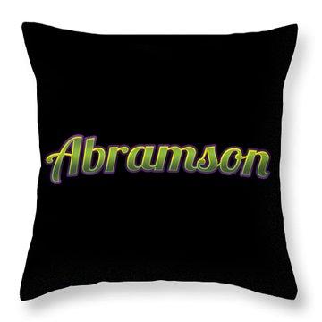 Abramson #abramson Throw Pillow
