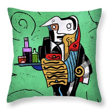 Throw Pillow featuring the painting Absinthe by Sotuland Art