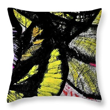 Throw Pillow featuring the painting Metamorphosis by Joan Reese
