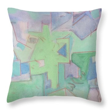 Abstract 3 Throw Pillow
